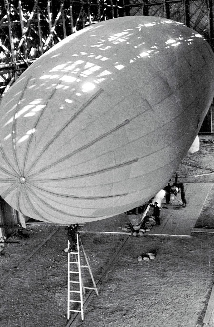 Novo dirigível pronto para testes