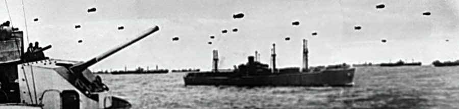 Navios da guarda costeira defendendo Leningrado, em 1943