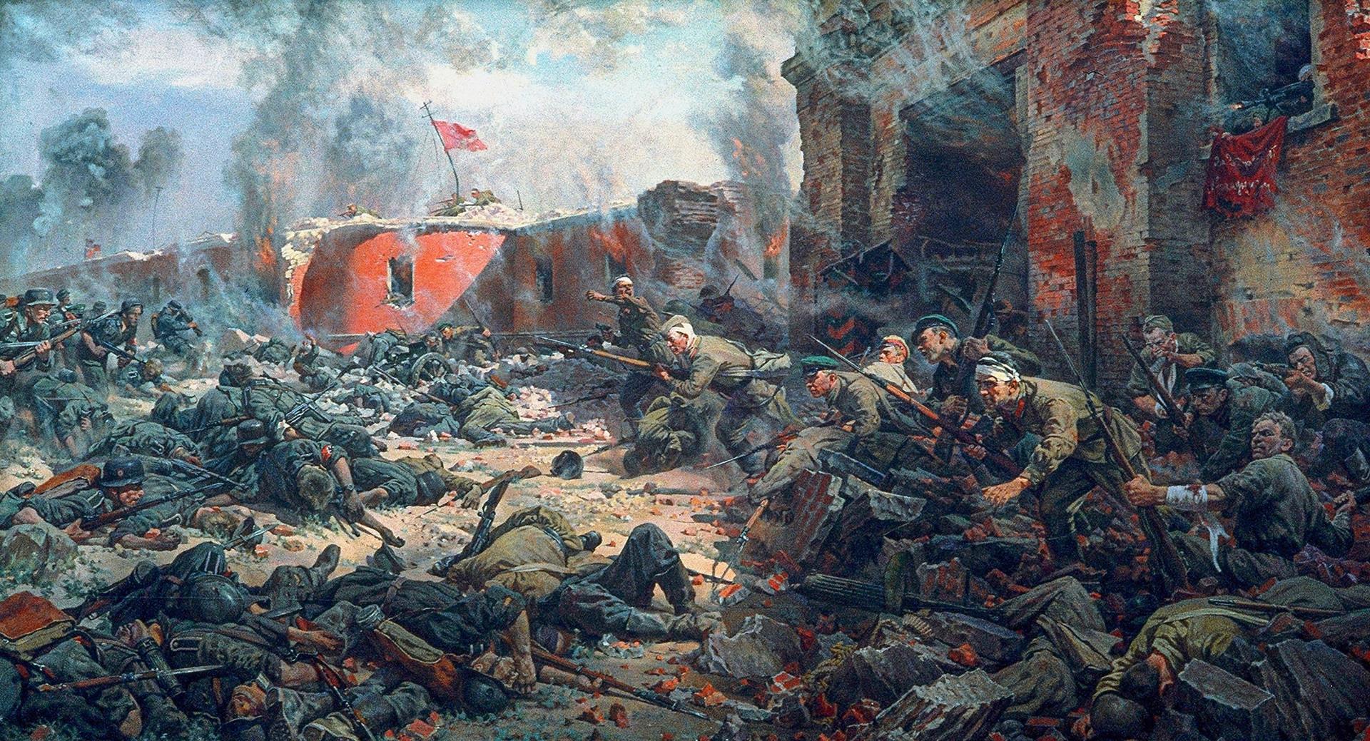 Obramba trdnaje Brest, delo Petra Krivonogova