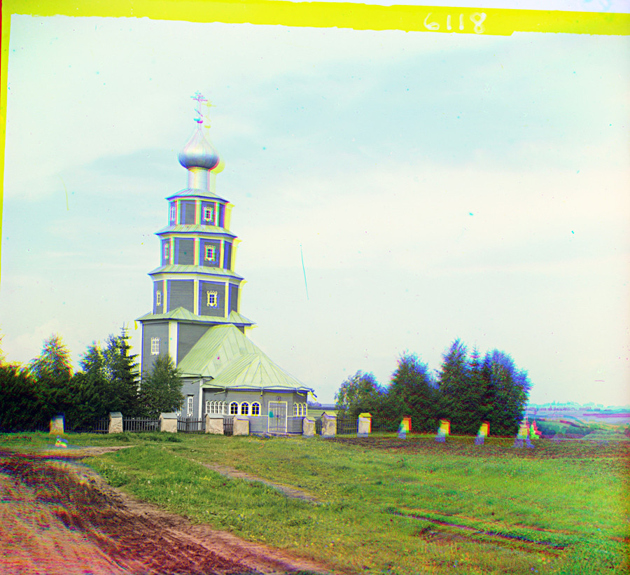 Church of the Tikhvin Icon (Old Church of the Ascension), northwest view. Summer 1910.