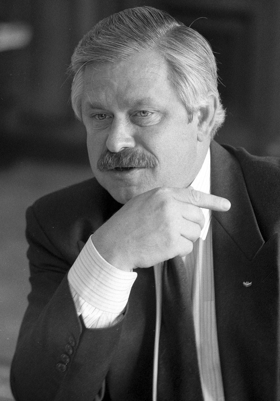 Vice-presidente da Rússia Aleksandr Rutskoi, em 1992