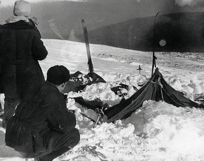 La tente découverte le 26 février 1959 par les secouristes.