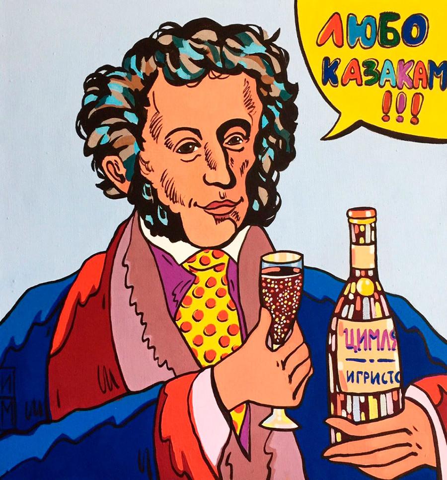 """Pushkin y Tsimlyanskoe (el vino)"""