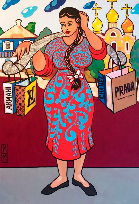 """""""Mulher de um stanitsa (aldeia cossaca)"""", de Maksim Ilinov"""