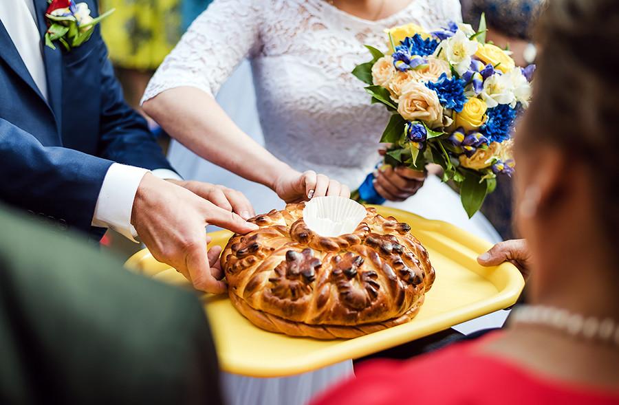 Durante una cerimonia di nozze
