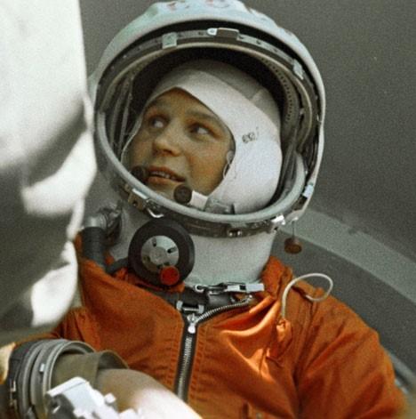 Kozmonavtka Valentina Tereškova pred vesoljskim poletom 16. 6. 1963