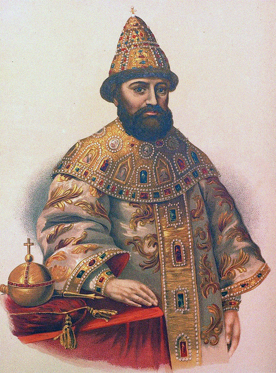 Portrait of the Tsar Michail I Fyodorovich of Russia (1596-1645).