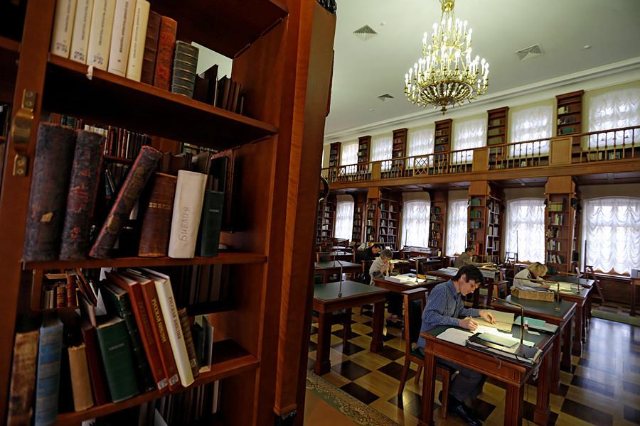 Penampakan bagian dalam Perpustakaan Nasional Rusia