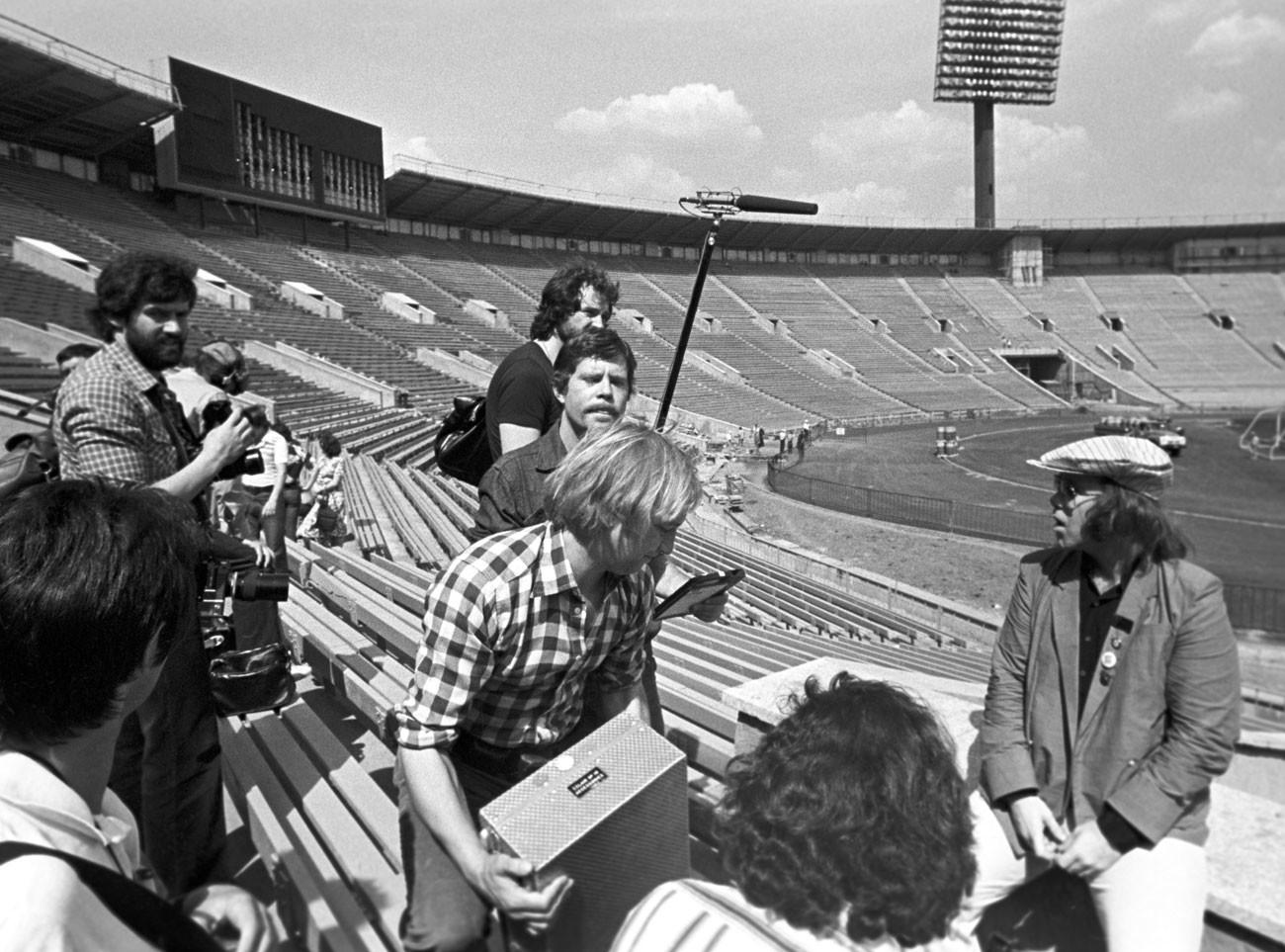 Elton John en Luzhnikí en el año 1979.