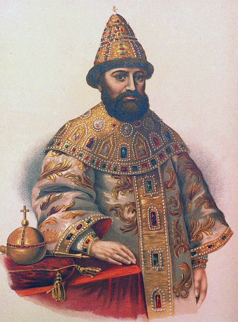 Retrato do tsar Miguel I da Rússia 91596-1645).