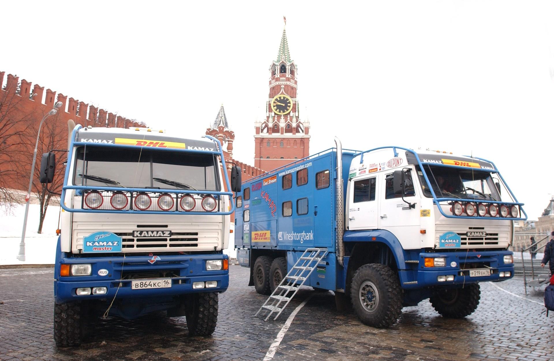 Tovornjaki dirkalne ekipe KAMAZ-Master