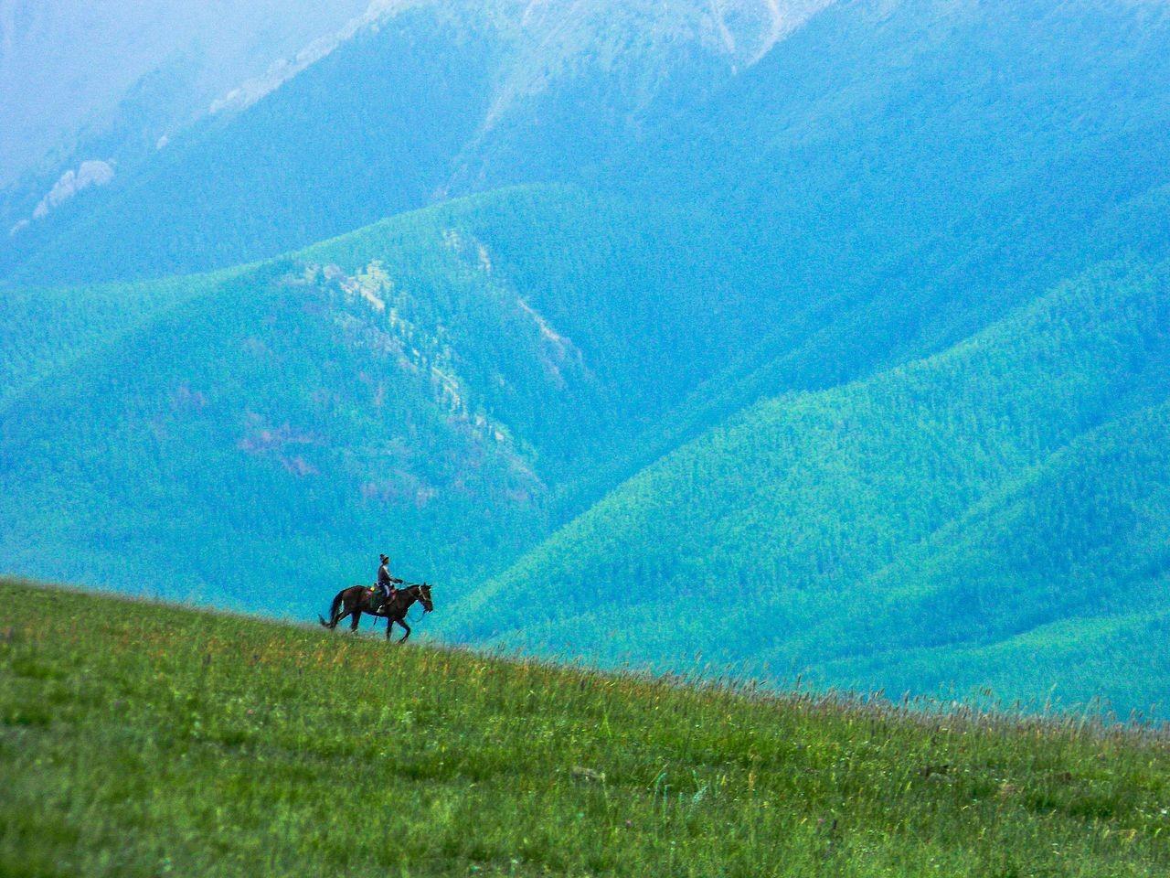 Jezdec na gori Tandi Uula