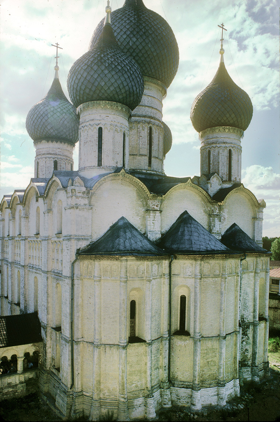 Dormition Cathedral. Southeast view from belfry. June 28, 1995.