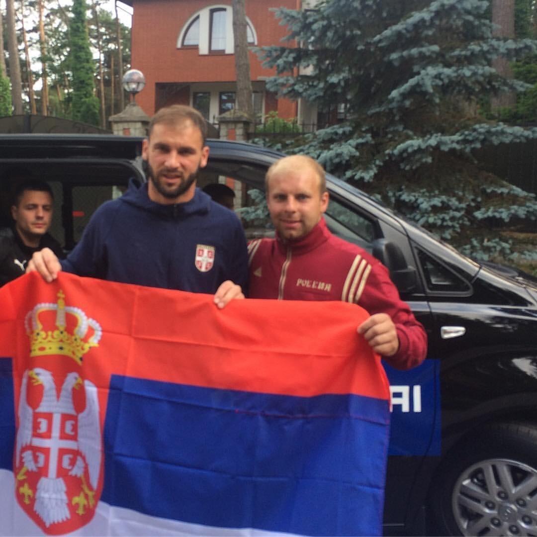 Бранислав Ивановић и Јевгениј Скаудас