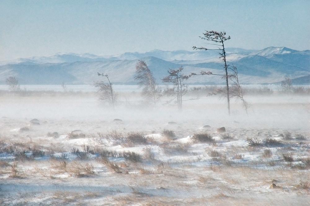 Viento Sarma del Baikal.