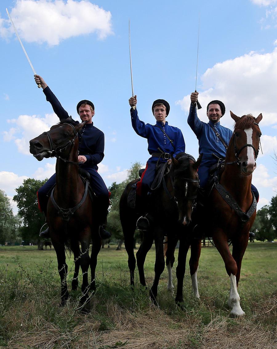 Cossacks in Starocherkasskaya Stanitsa