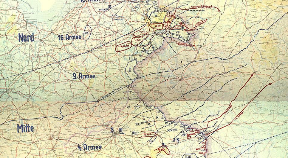 """Трофејна карта на првата фаза на планот """"Барбароса"""""""