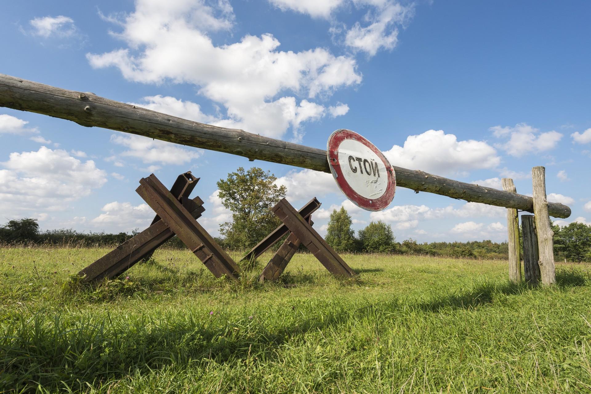 Rampa na meji sovjetske okupacijske cone po koncu druge svetovne vojne v Nemčiji, spominski park Point Alpha, Turingija