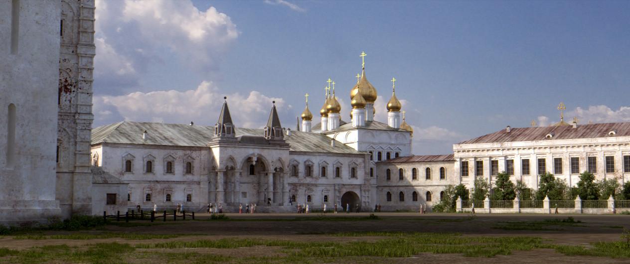 Ivanovski trg in Čudov samostan (uničen leta 1932).