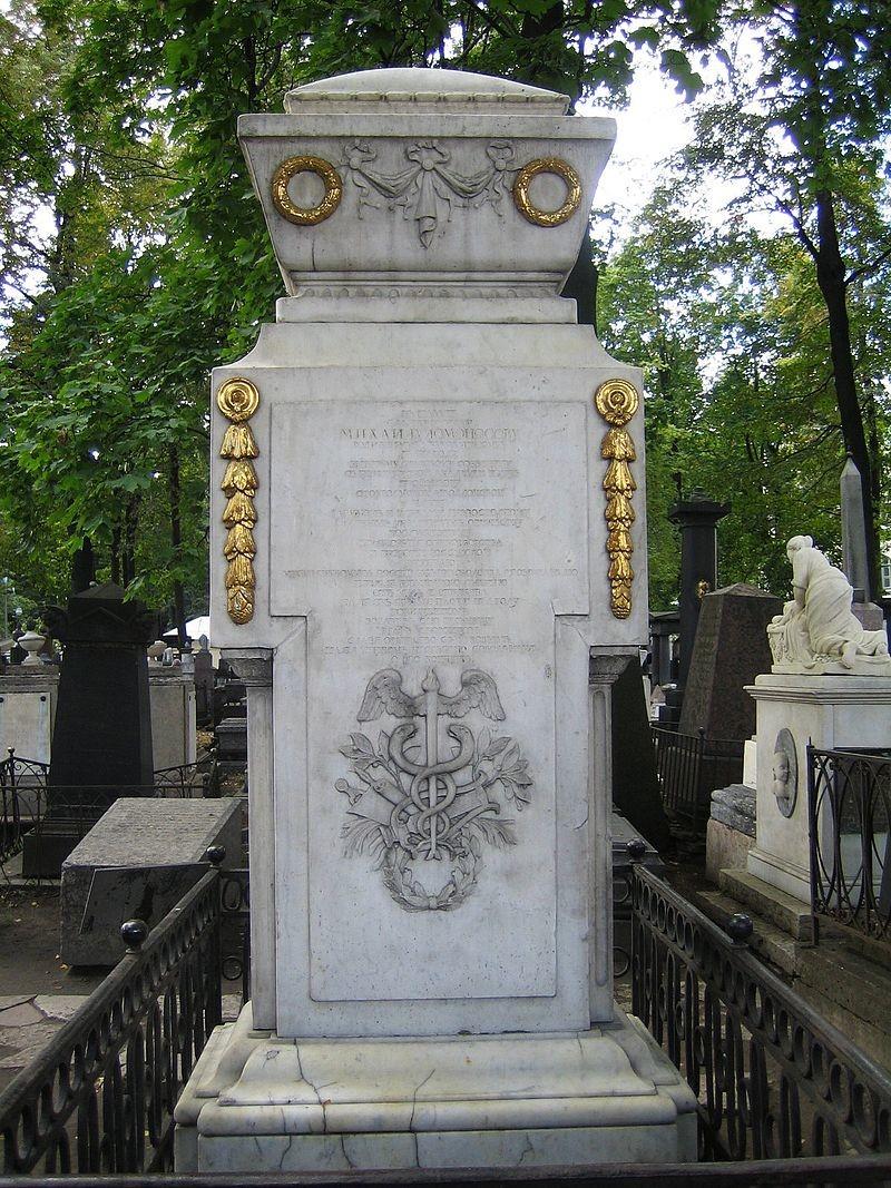 Grob Lomonosova v Lazarjevem samostanu v Sankt Peterburgu.