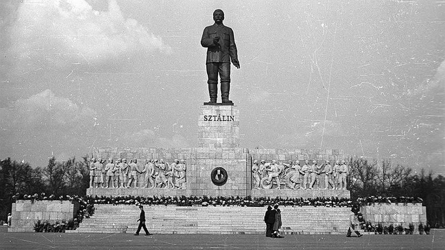 Споменик Стаљину у Будимпешти.