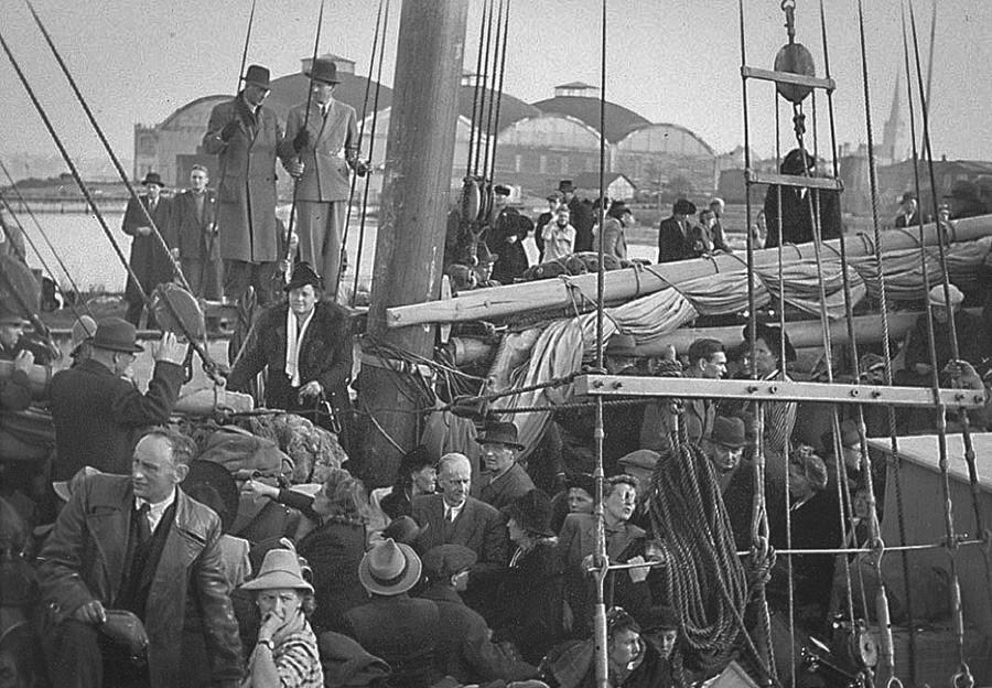 Estnischen Schweden fliehen aus Tallinn, 1944