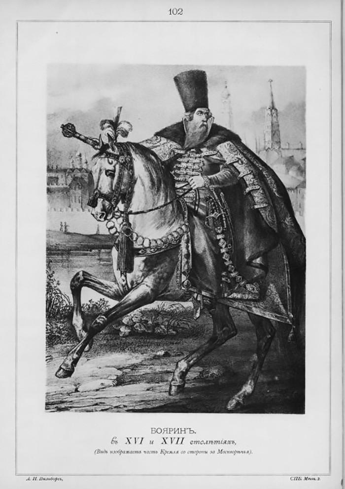Ein russischer Bojar im 16.–17. Jahrhundert