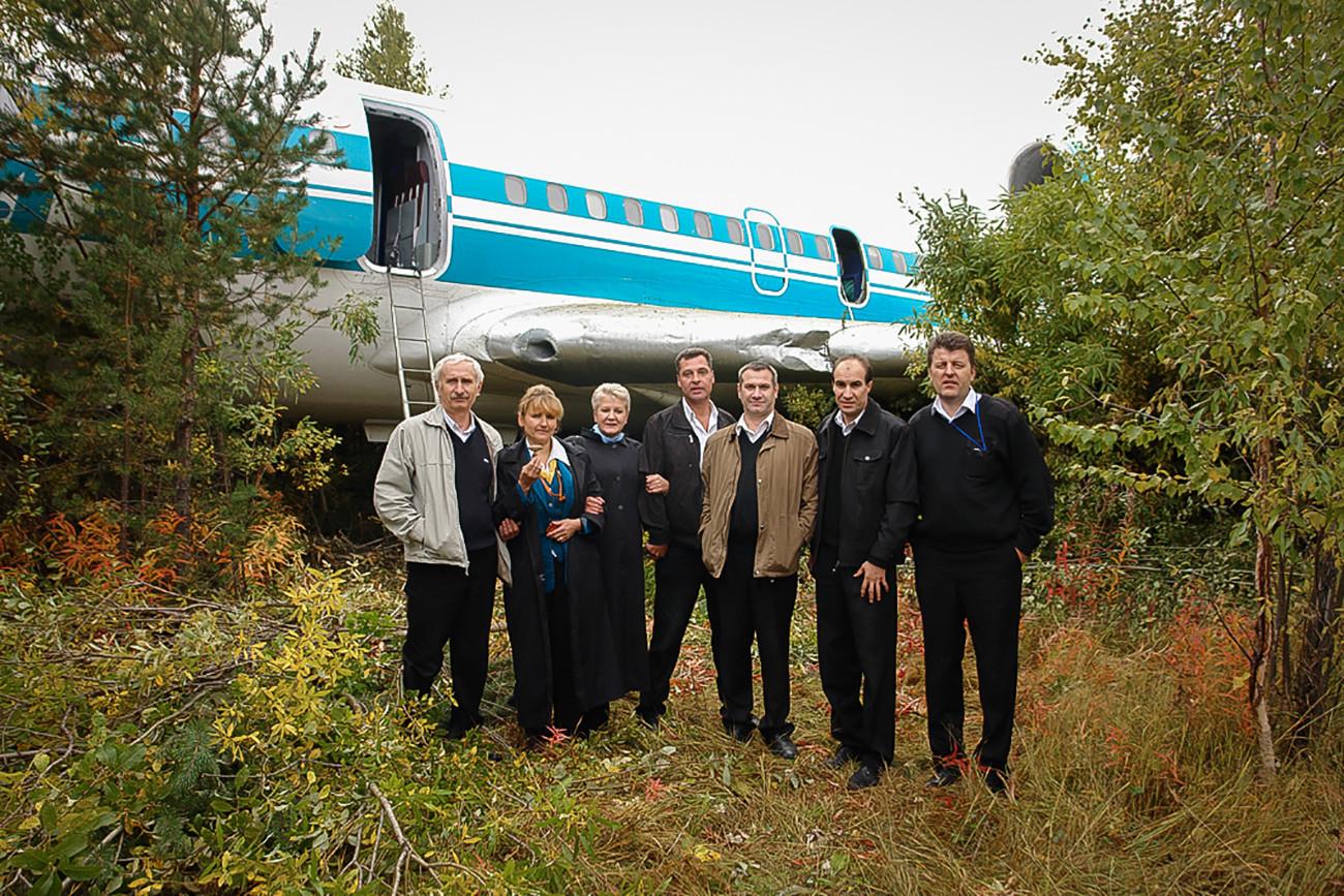 A tripulação do Tupolev-154 que teve uma falha de sistema e teve que fazer um pouso de emergência.