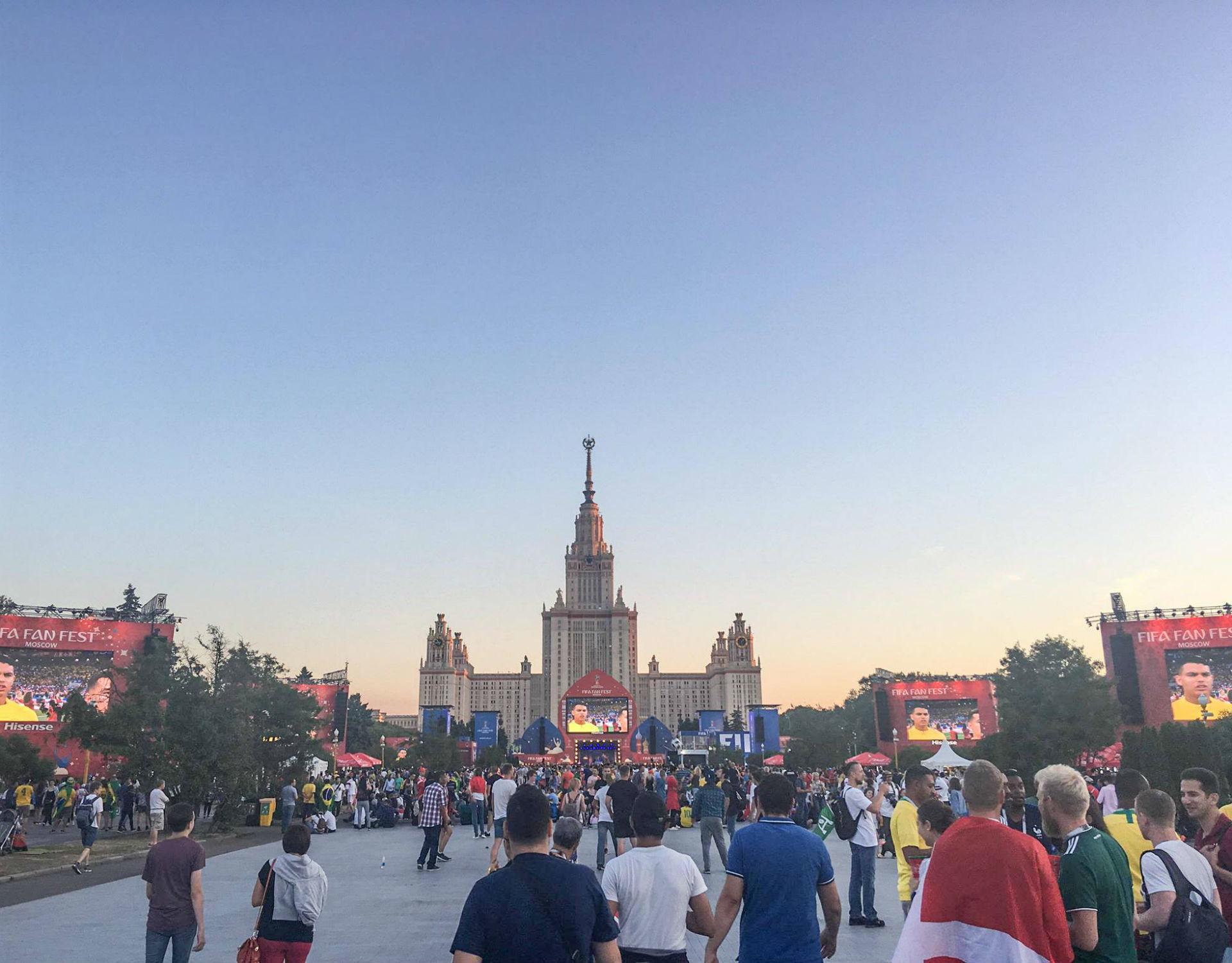 La Fan Fest de Moscou.