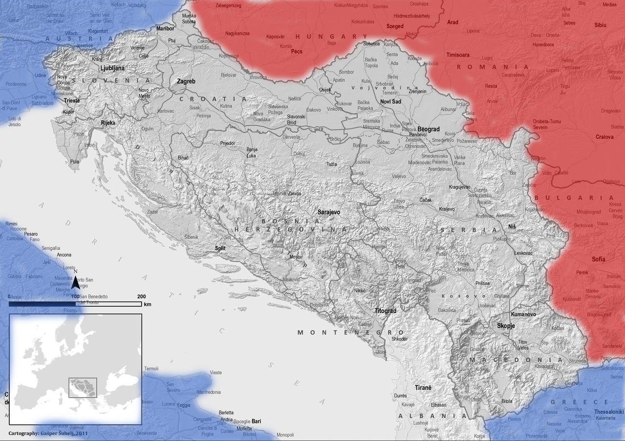Jugoslavija razpeta med Vzhodom in Zahodom.