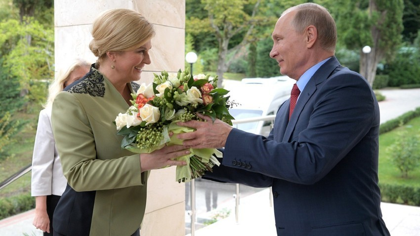 Колинда Грабар-Китаровиќ и Владимир Путин