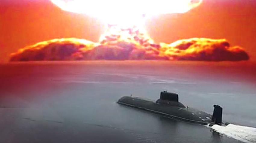 """АПЛ """"Хабаровск"""" ќе може да носи 6 подводни дронови """"Статус-6"""" од кои секој поединечно ќе носи боева глава од најмалку 100 мегатони ТНТ."""