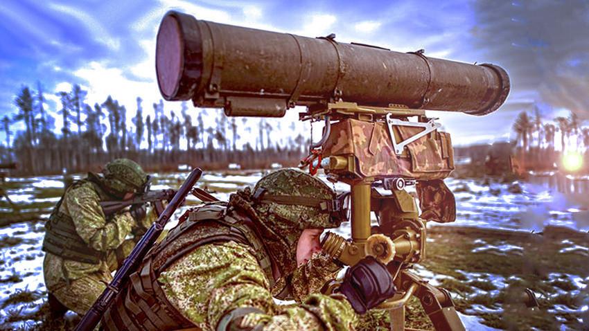 """Рускиот противтенковски ракетен систем """"Корнет"""""""