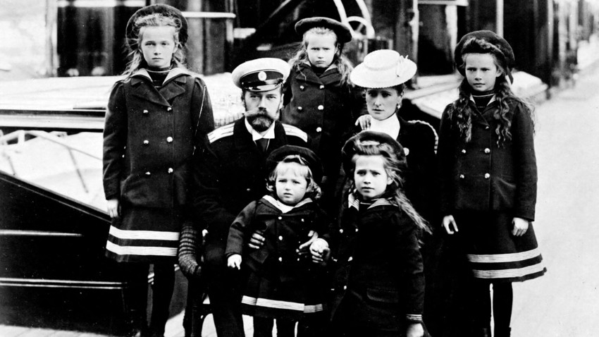 The Russian Royal Family, years before the revolutions started.