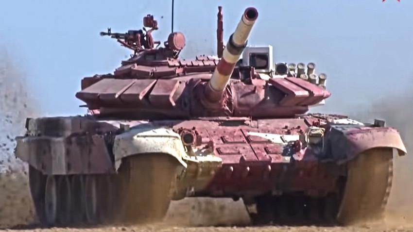 Тенк Т-72Б3 са којим је Бобан Јанковић остварио изузетан резултат