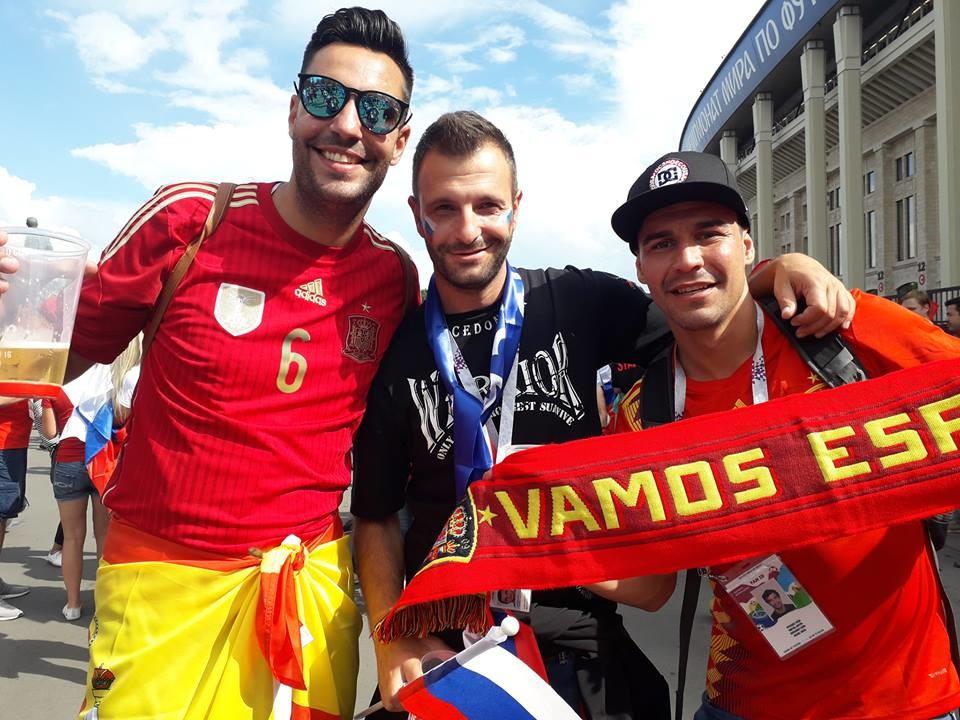 Со навивачи од Шпанија