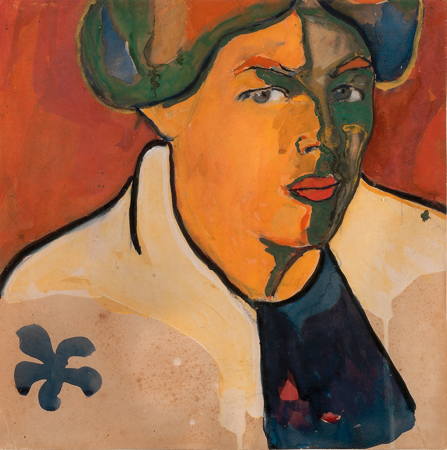 Kazimir Malevich. Woman's portrait, 1910-1911.