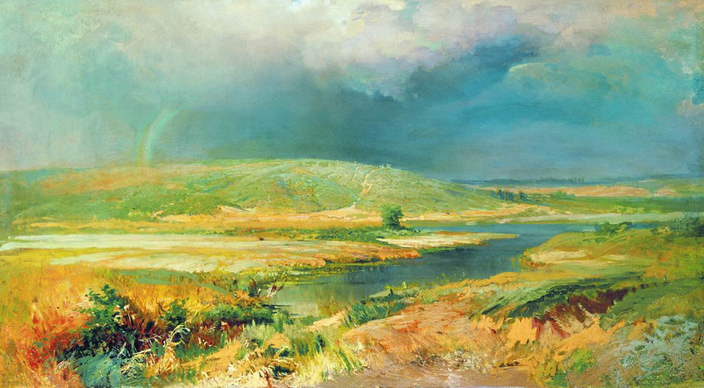 Las lagunas del Volga, 1870.