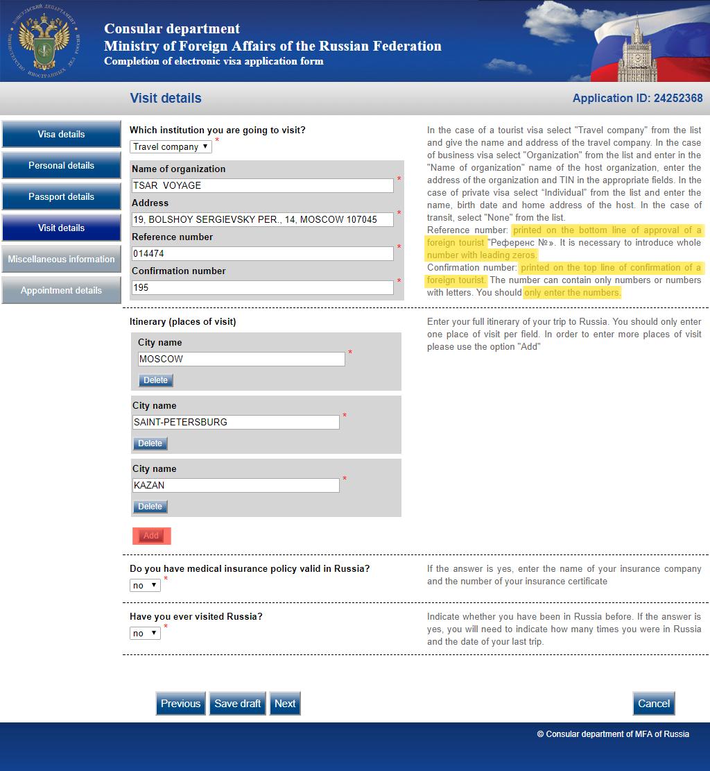 Sepuluh Langkah Mudah Mengisi Aplikasi Online Visa Rusia Russia Beyond