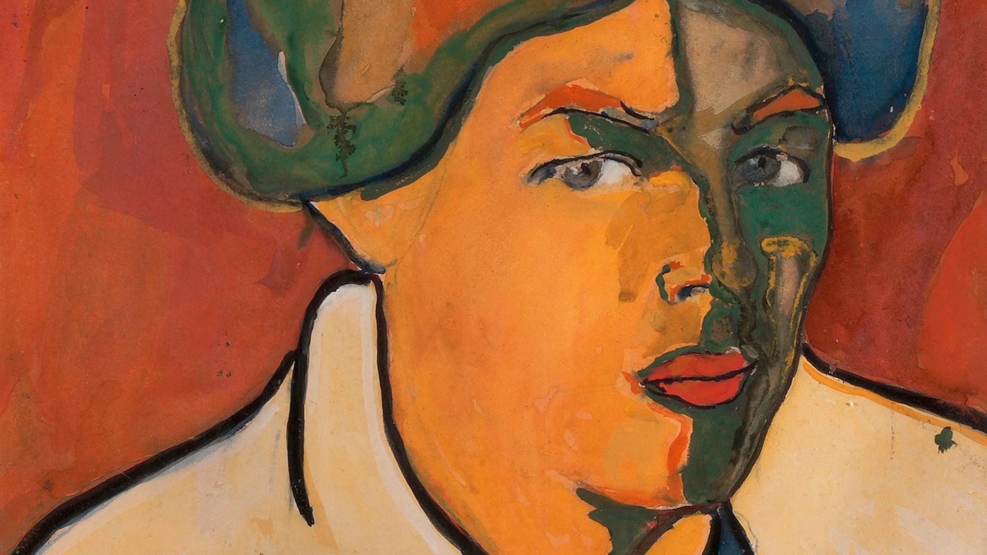 Kazimir Malevich. Ritratto di donna, 1910-1911
