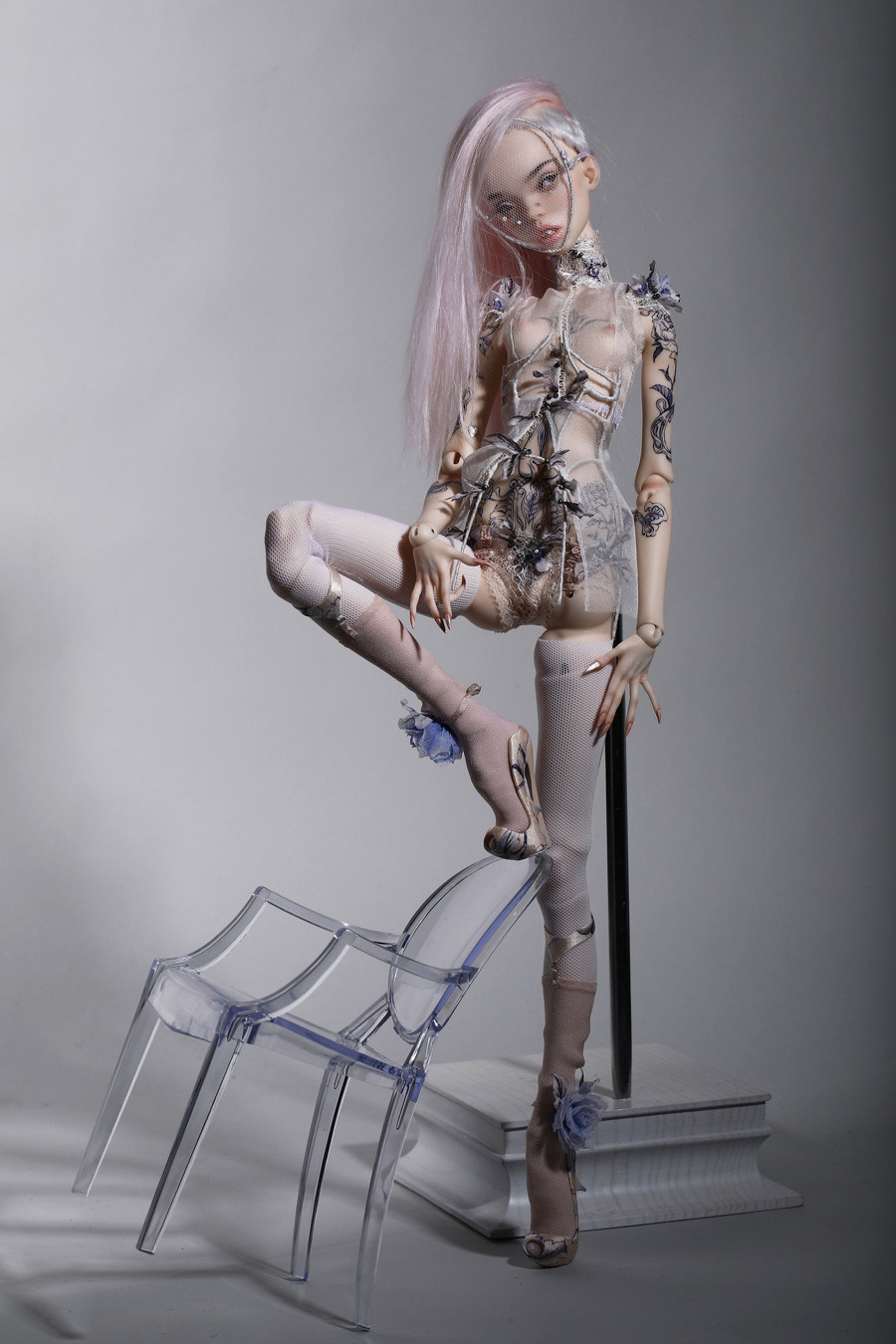 Boneca das irmãs Popovi para Jean Paul Gaultier.