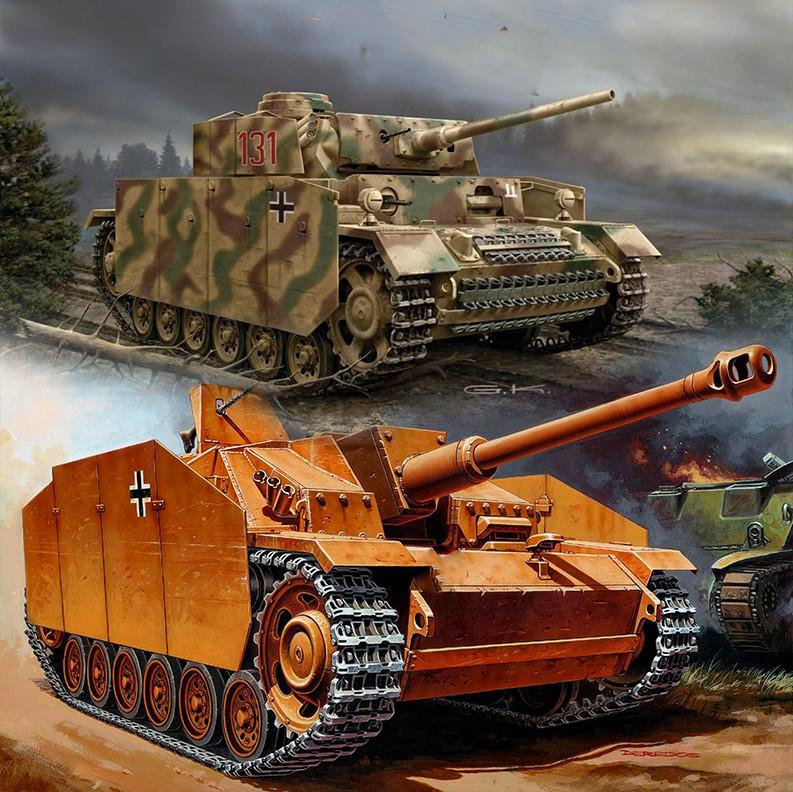 Njemački srednji tenk Pz. Kpfw. III, i jurišnik StuG III