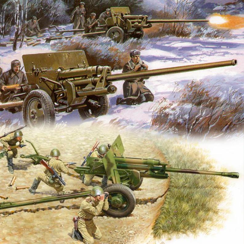 Protuoklopni topovi ZIS-2 (kal. 57 mm) i ZIS-3 (kal. 76,2 mm)