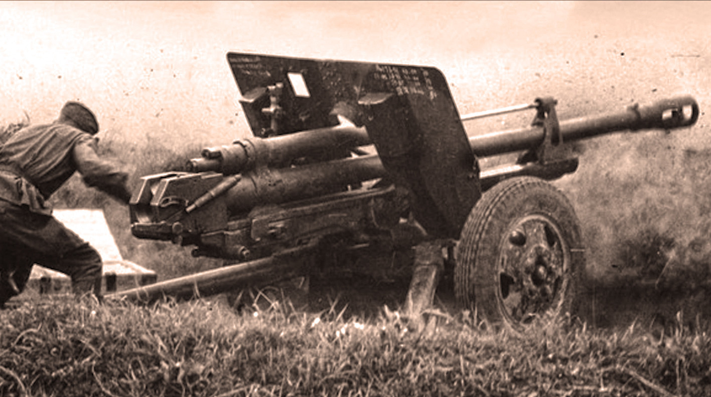 Pozicija s protutenkovskim topom ZIS-3 kal. 76,2 mm