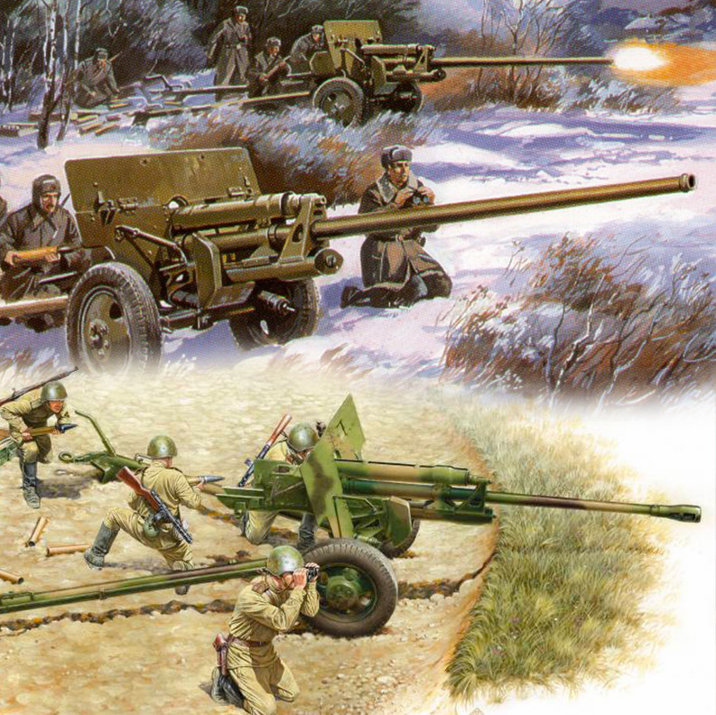 Protioklepni topovi ZIS-2 in ZIS-3