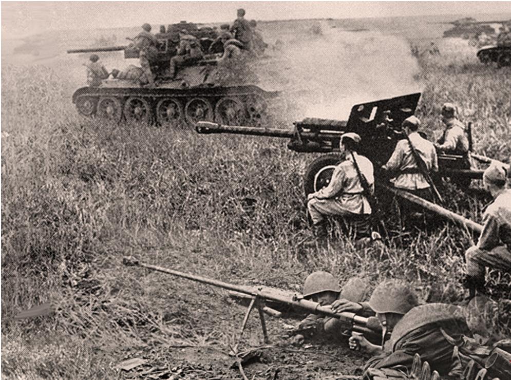 Orožje, ki je zlomilo sovražnika: protitankovska puška PTRS-41, ZIS-3 in T-34-76