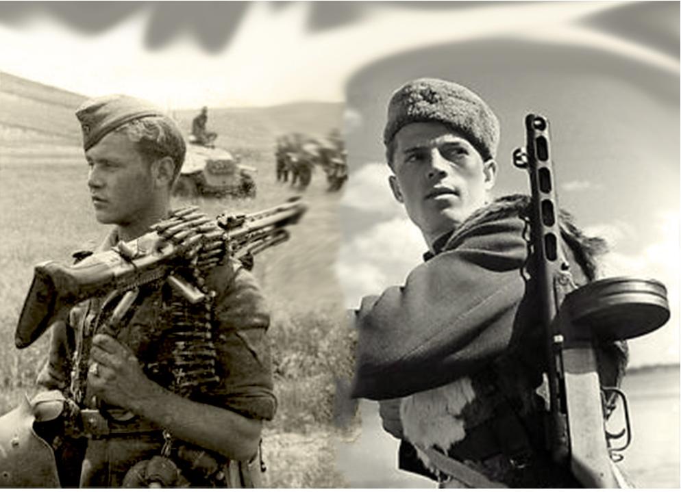 Nemški mitraljezec oklepne divizije Großdeutschland in sovjetski gardist