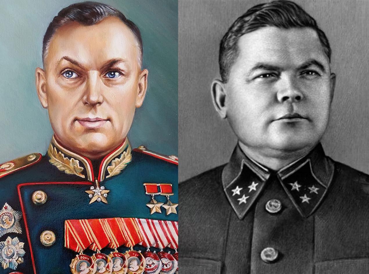 Генерал Рокосовски кмд. Централног фронта и генерал Ватутин кмд. Вороњешког  фронта