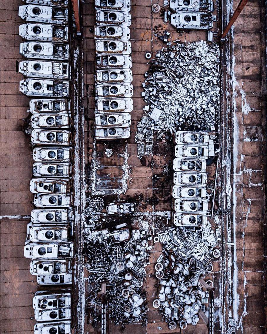 モスクワ州にある車両のがれき