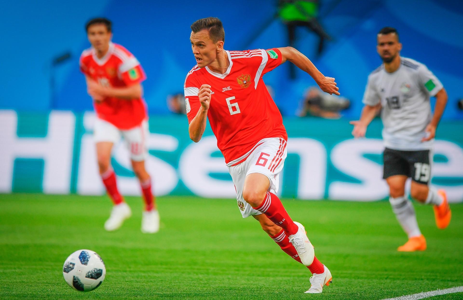 Denis Černišev je bil najboljši ruski strelec na turnirju. Zadel je proti Savdski Arabiji (2x), Egiptu in Hrvaški.
